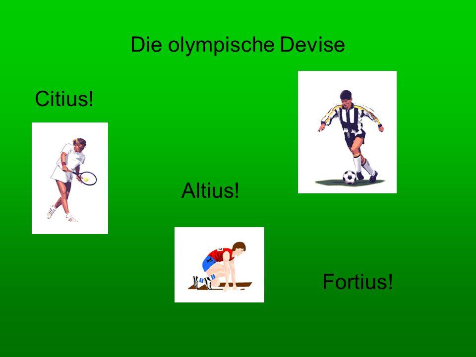 Was passt zueinander.1.Die olympischen Spiele fanden a) zum 1.