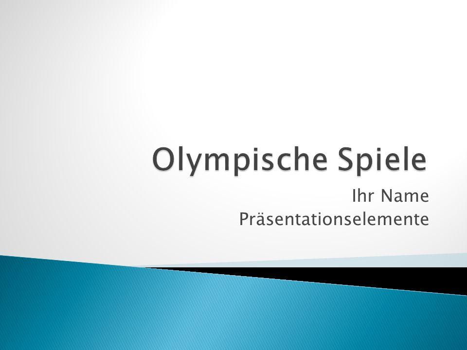 Olympia – Wiedergeburt der Antike olympische Idee sportlicher Vergleich vs.