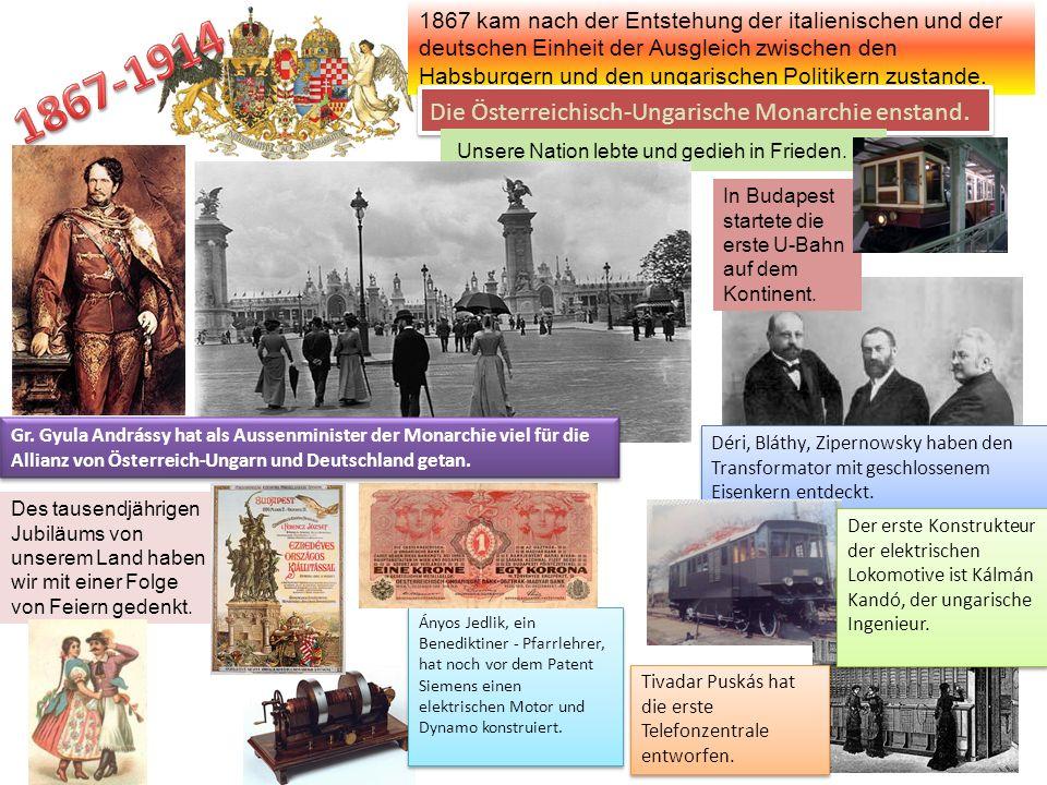 Déri, Bláthy, Zipernowsky haben den Transformator mit geschlossenem Eisenkern entdeckt. 1867 kam nach der Entstehung der italienischen und der deutsch