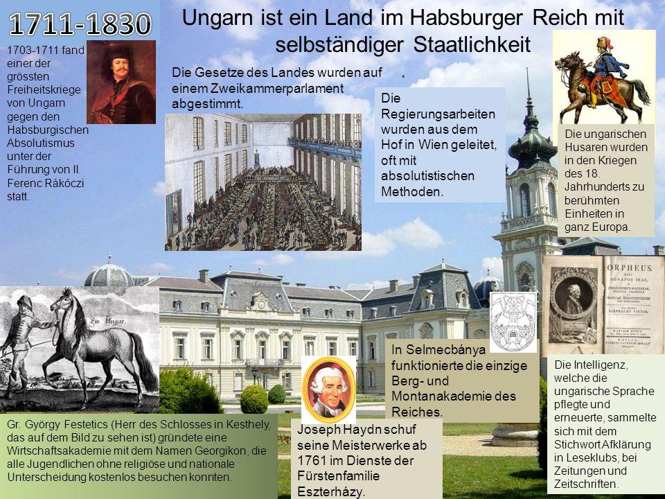 Ungarn ist ein Land im Habsburger Reich mit selbständiger Staatlichkeit. 1703-1711 fand einer der grössten Freiheitskriege von Ungarn gegen den Habsbu