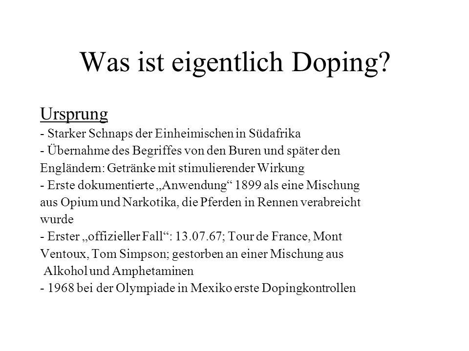 Was ist eigentlich Doping.Definitionen: 1.