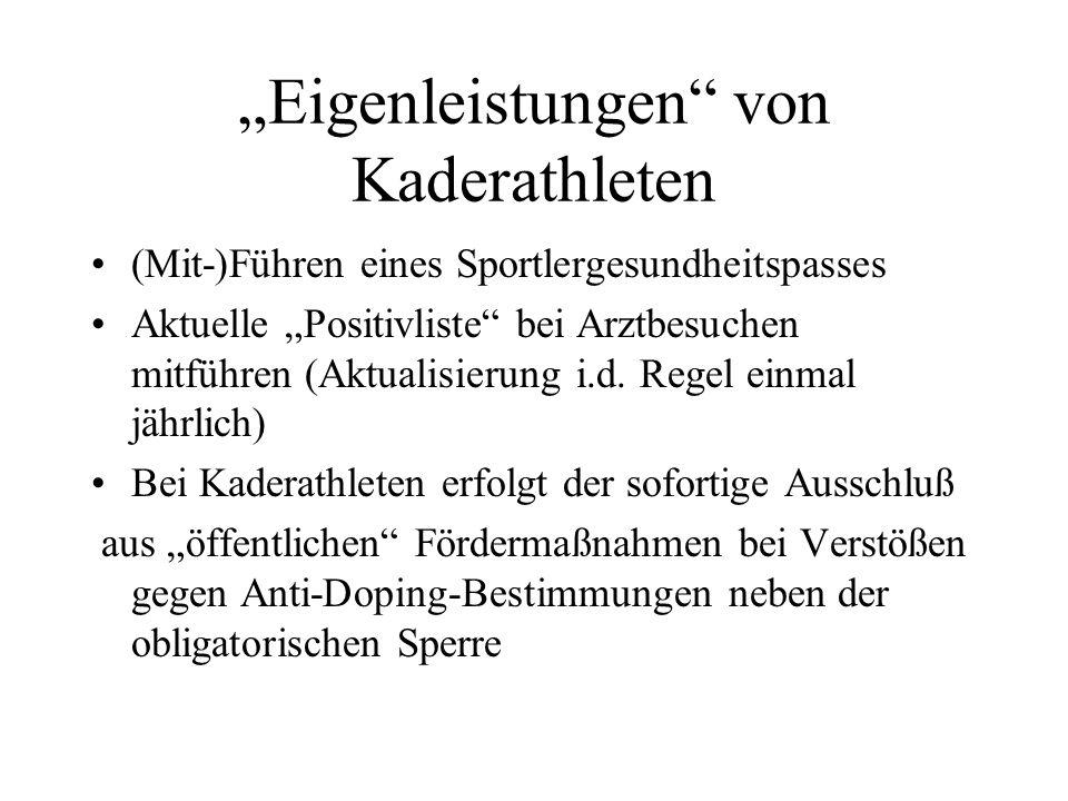 Sinn der Antidopingfortbildung PRÄVENTION (Vorbeugung/Aufklärung) Verpflichtung seit Anfang 2007 für Kaderathletinnen und Kaderathleten zur einmal jährlichen Teilnahme an einer Antidopingfortbildung