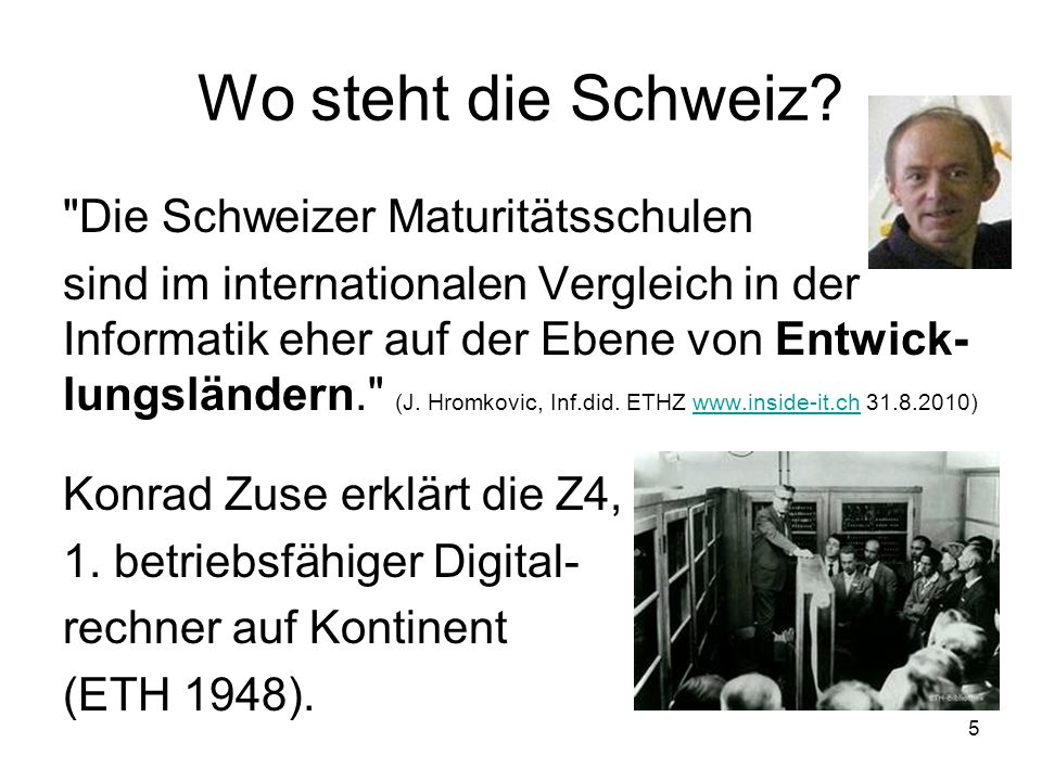 Wo steht die Schweiz?