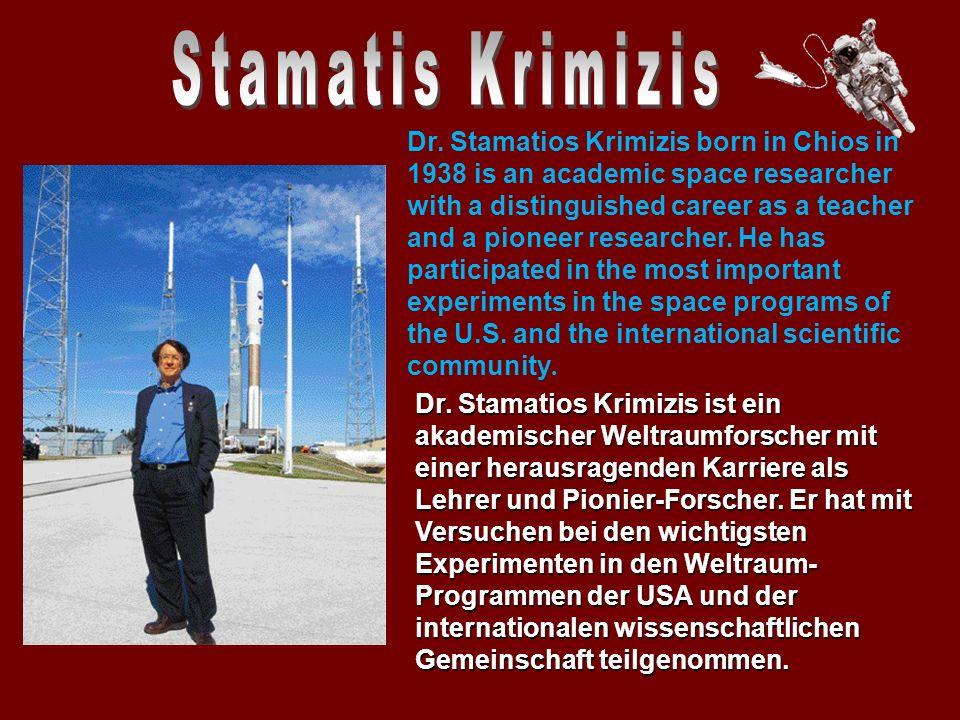 Im Dezember 2006 wurde er zum nationalen Vertreter Griechenlands bei der Europäischen Weltraumorganisation (ESA).