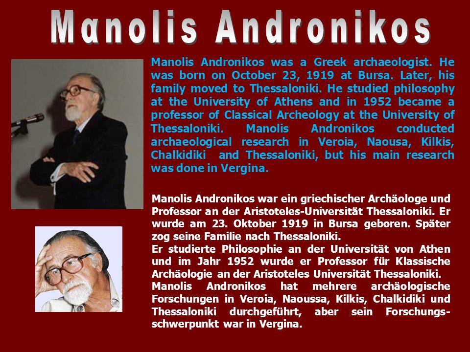 Am 8.November 1977 machte er eine der wichtigsten archäologischen Entdeckungen des 20.