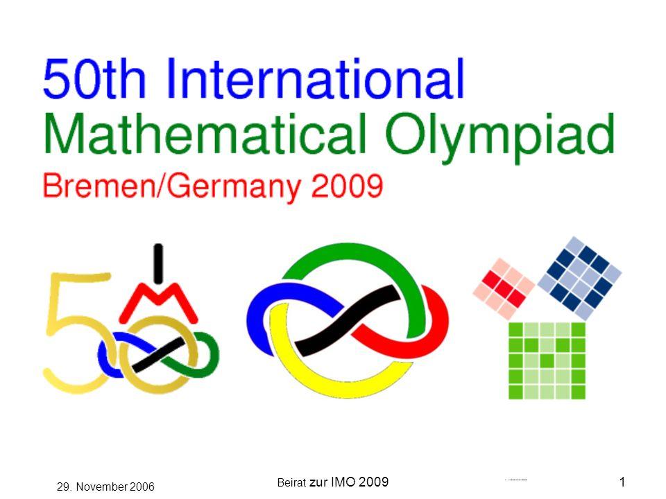 Beirat zur IMO 20092 29.November 2006 Was ist eine IMO.