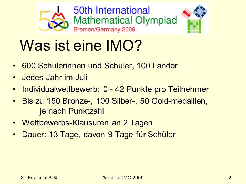 Beirat zur IMO 20093 29.