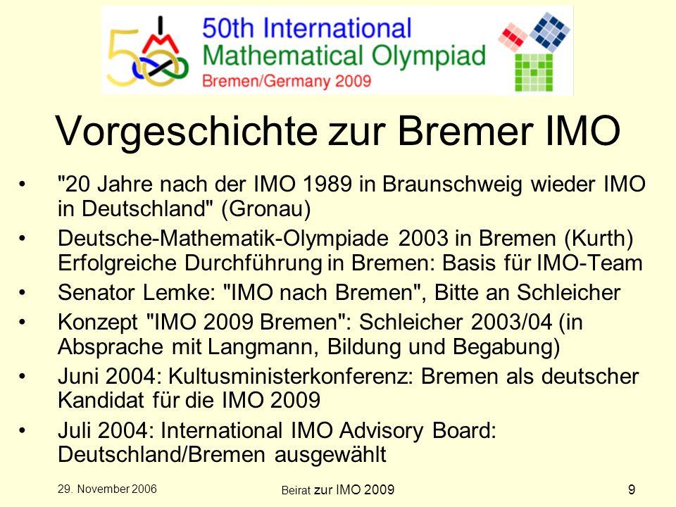 Beirat zur IMO 200910 29.