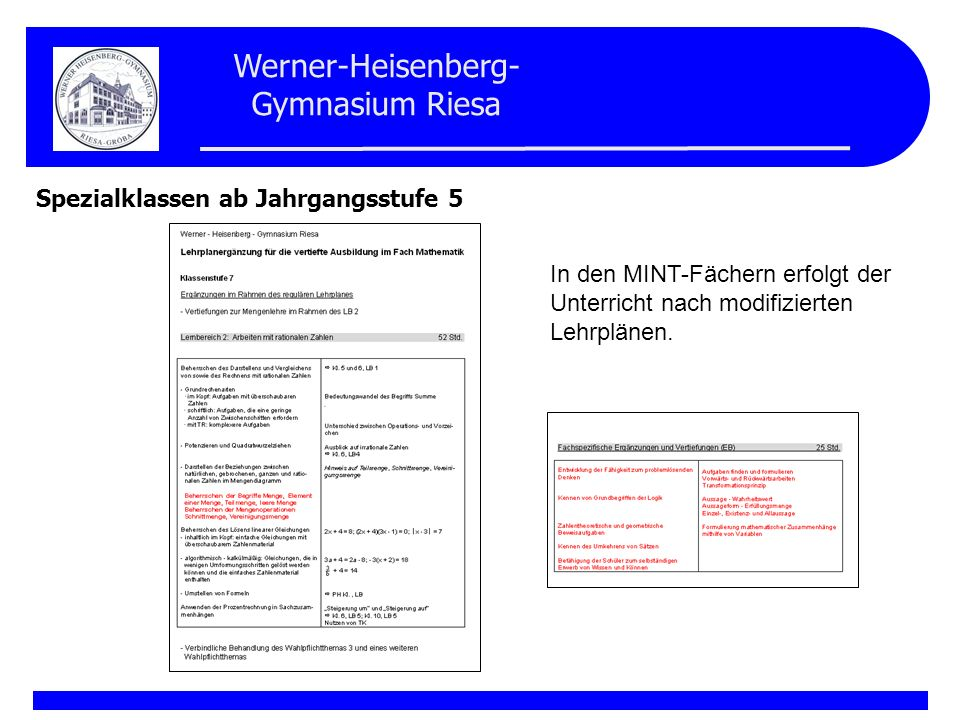 Werner-Heisenberg- Gymnasium Riesa Korrespondenzzirkel Klasse 4