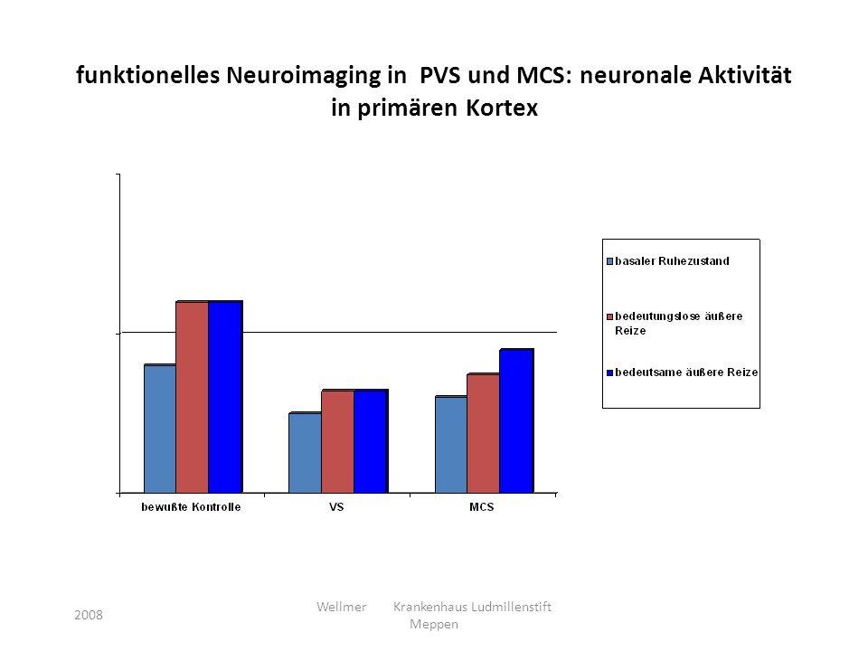funktionelles Neuroimaging in PVS und MCS: neuronale Aktivität in primären Kortex 2008 Wellmer Krankenhaus Ludmillenstift Meppen