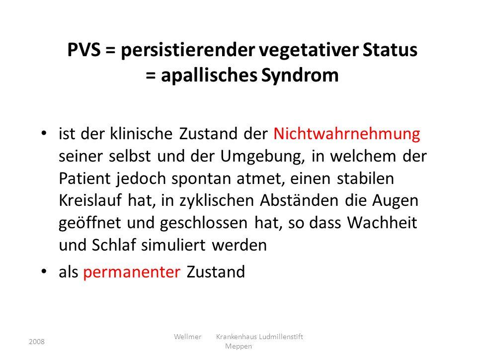2008 Wellmer Krankenhaus Ludmillenstift Meppen MF – mesiofrontaler Cortex; P – Precuneus, T - Thalamus Laureys et al 2006