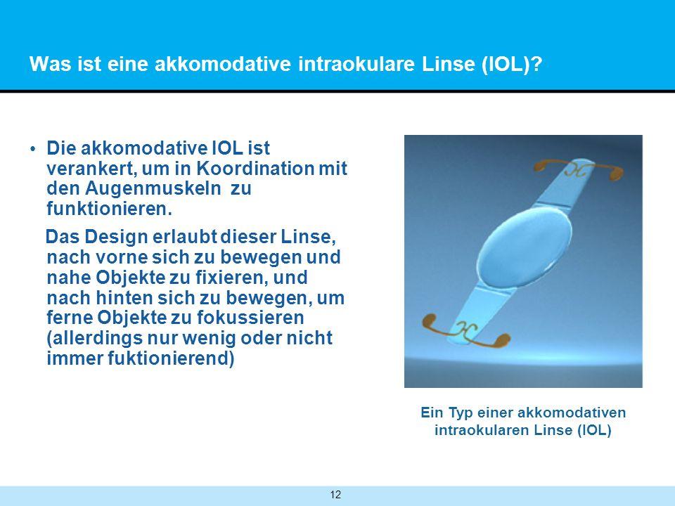 12 Was ist eine akkomodative intraokulare Linse (IOL).