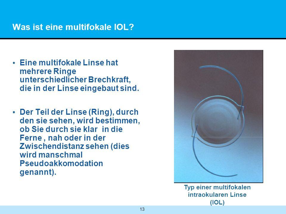 13 Was ist eine multifokale IOL.
