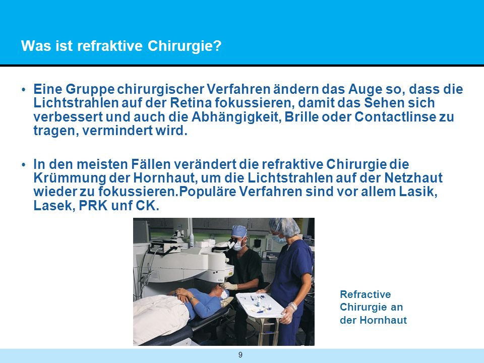 9 Was ist refraktive Chirurgie.