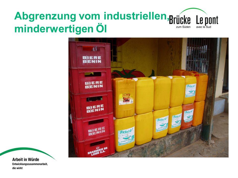 Abgrenzung vom industriellen, minderwertigen Öl