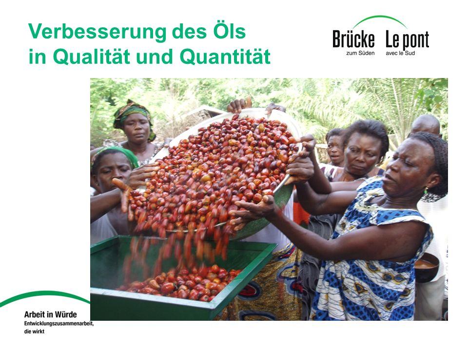 Verbesserung des Öls in Qualität und Quantität
