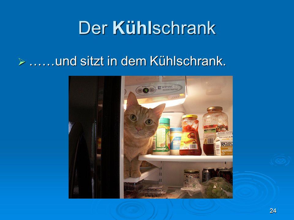 Der Kühlschrank ……und sitzt in dem Kühlschrank. ……und sitzt in dem Kühlschrank. 24