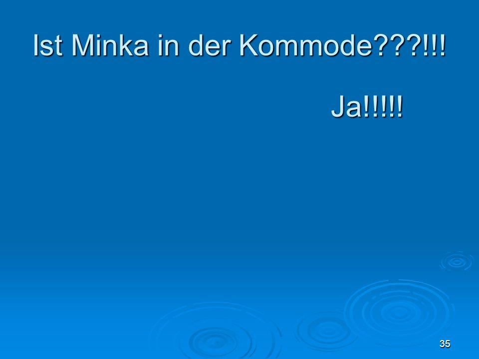 Ist Minka in der Kommode???!!! 35 Ja!!!!!