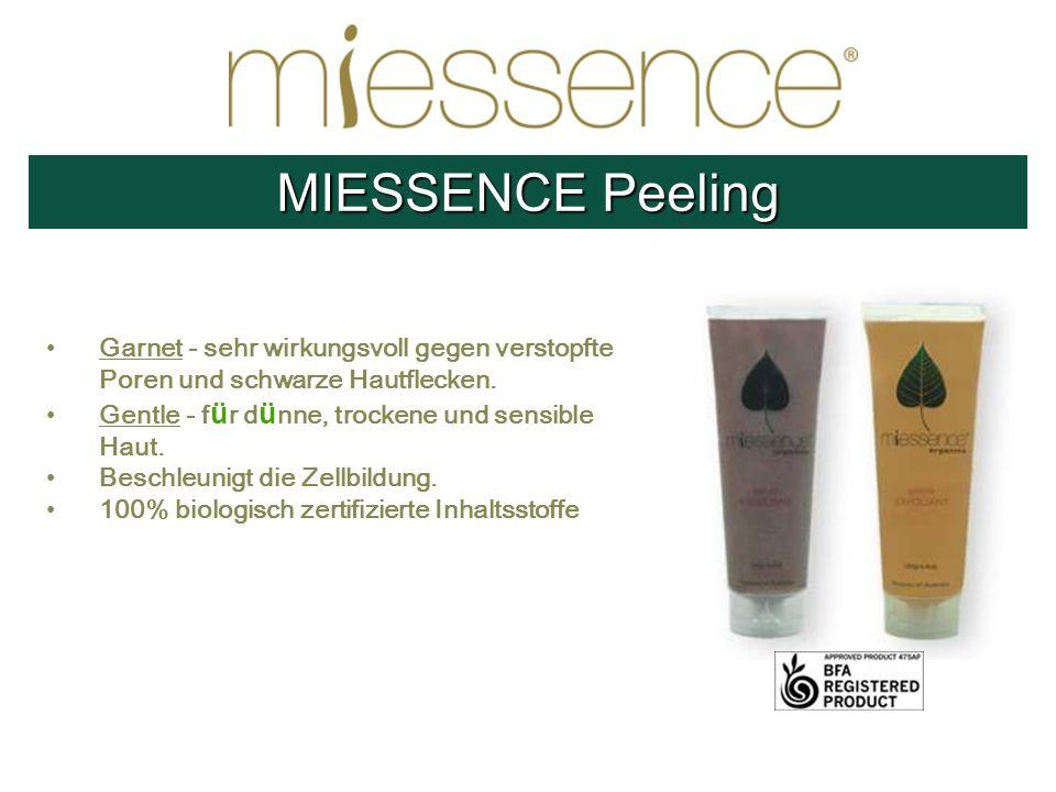 Garnet - sehr wirkungsvoll gegen verstopfte Poren und schwarze Hautflecken. Gentle - f ü r d ü nne, trockene und sensible Haut. Beschleunigt die Zellb