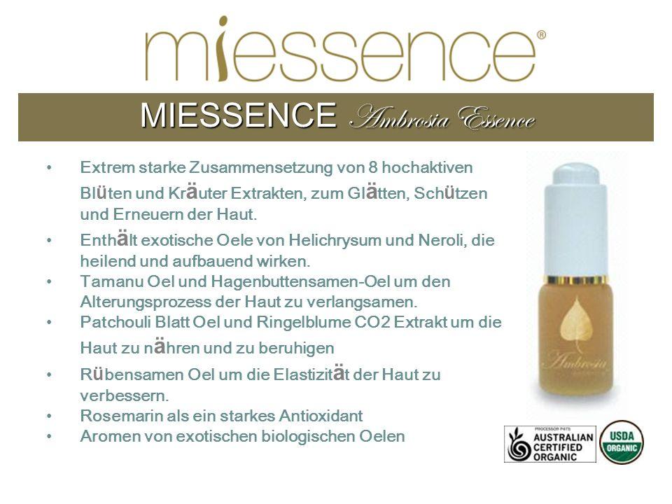 MIESSENCE Ambrosia Essence Extrem starke Zusammensetzung von 8 hochaktiven Bl ü ten und Kr ä uter Extrakten, zum Gl ä tten, Sch ü tzen und Erneuern de