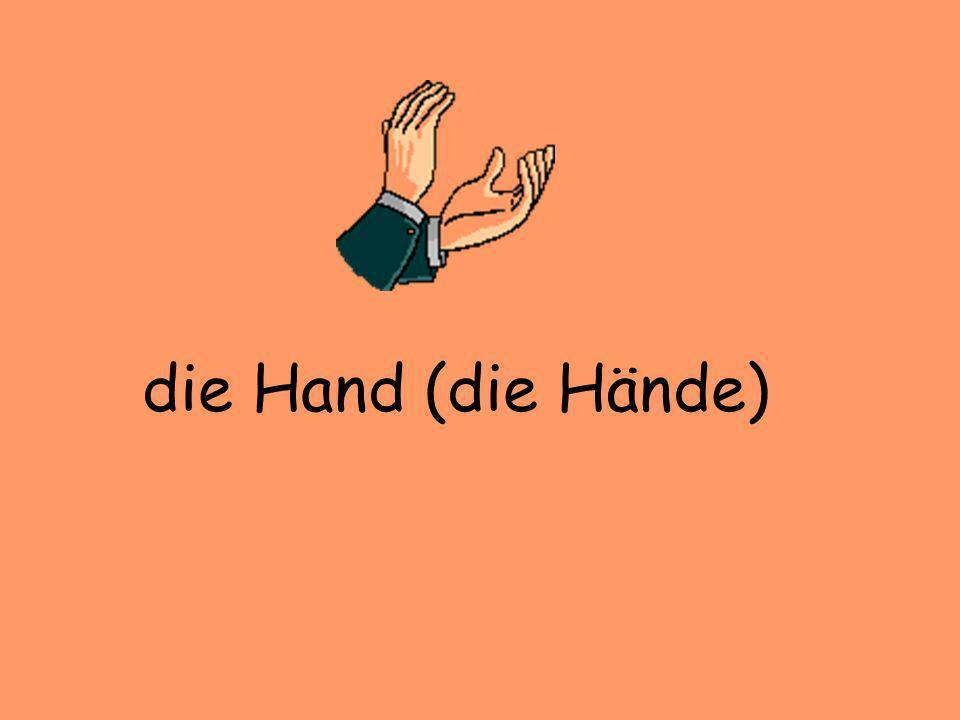 die Hand (die Hände)