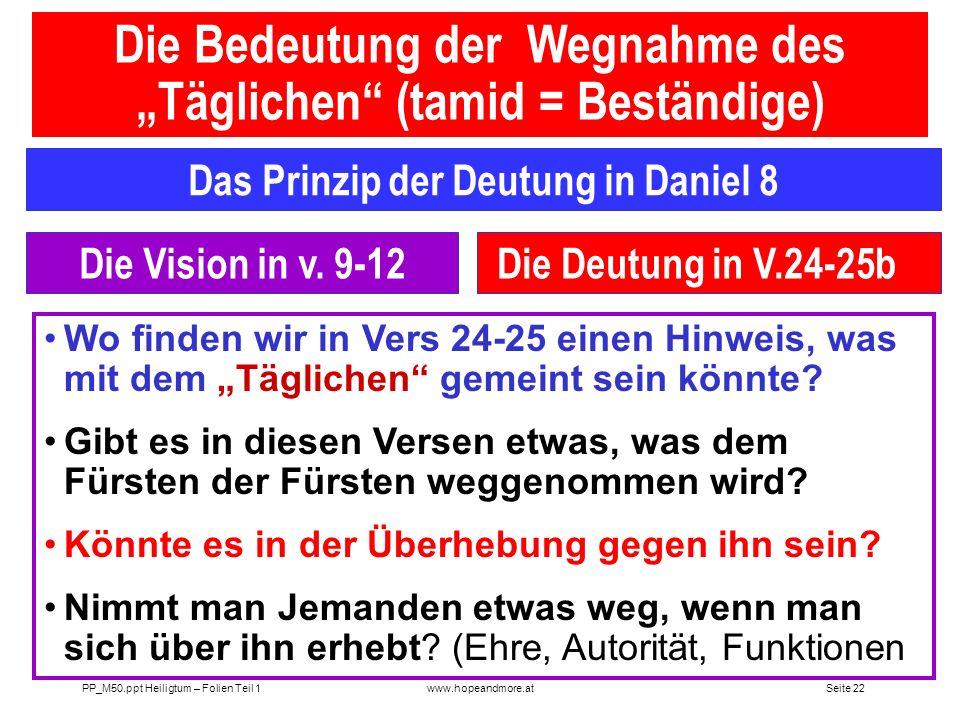 Seite 21 PP_M50.ppt Heiligtum – Folien Teil 1www.hopeandmore.at Die Stiftshütte ein Abbild der Gemeinde Die jüdische Stiftshütte war ein Abbild der ch