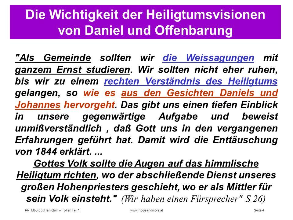 Seite 3 PP_M50.ppt Heiligtum – Folien Teil 1www.hopeandmore.at