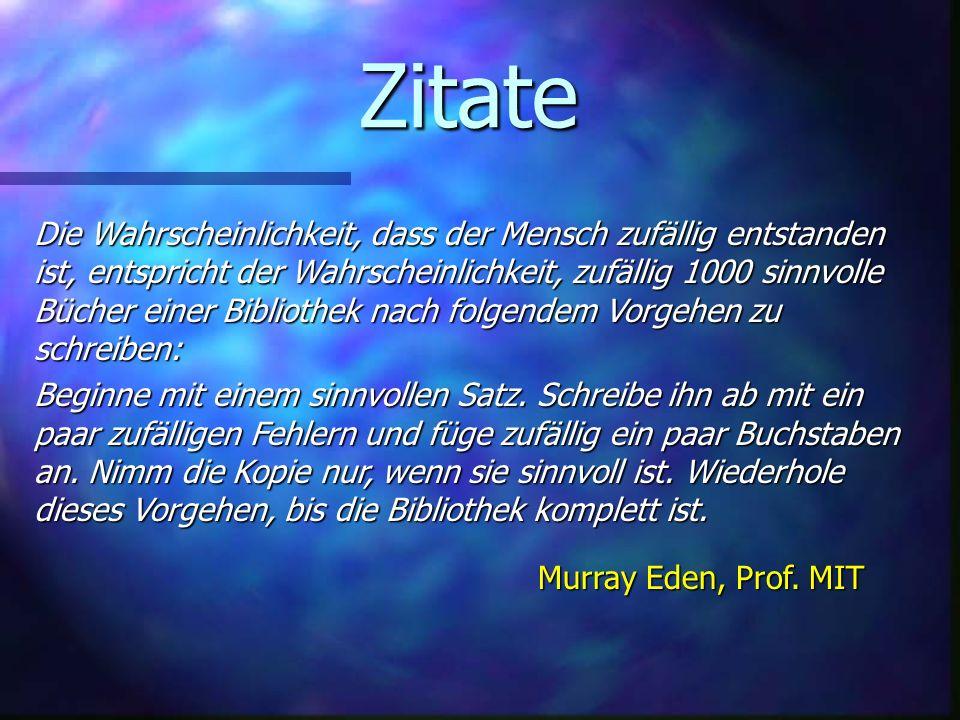 Zitate Murray Eden, Prof.