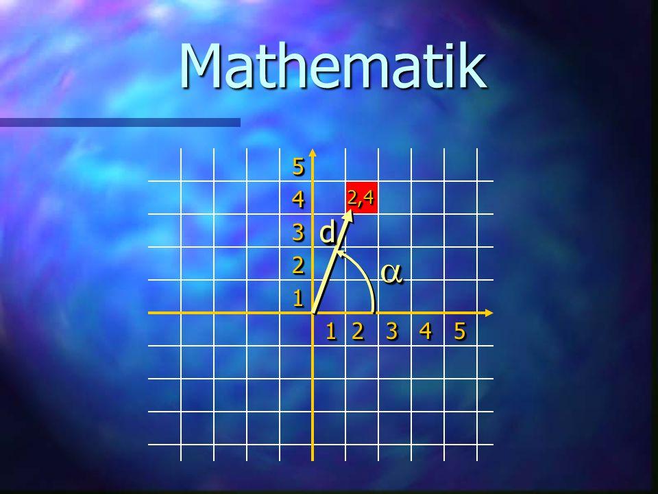 Mathematik 1 2 3 4 5 54321543212,42,4 dd