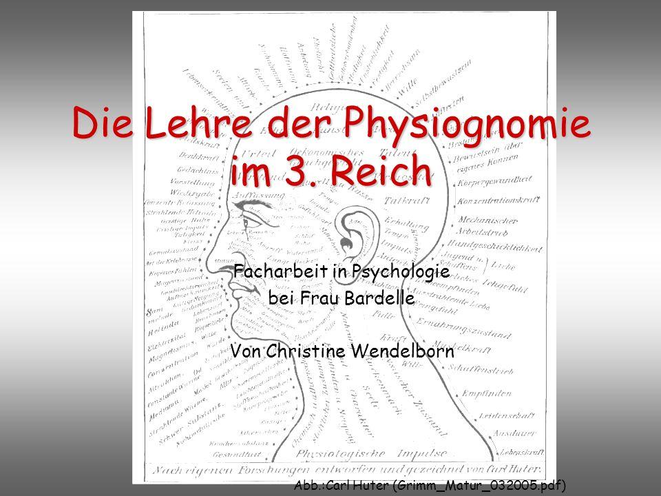 Die Lehre der Physiognomie im 3.