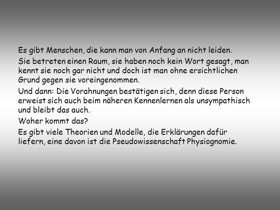 Die Lehre der Physiognomie im 3. Reich Facharbeit in Psychologie bei Frau Bardelle Von Christine Wendelborn Abb.:Carl Huter (Grimm_Matur_032005.pdf)