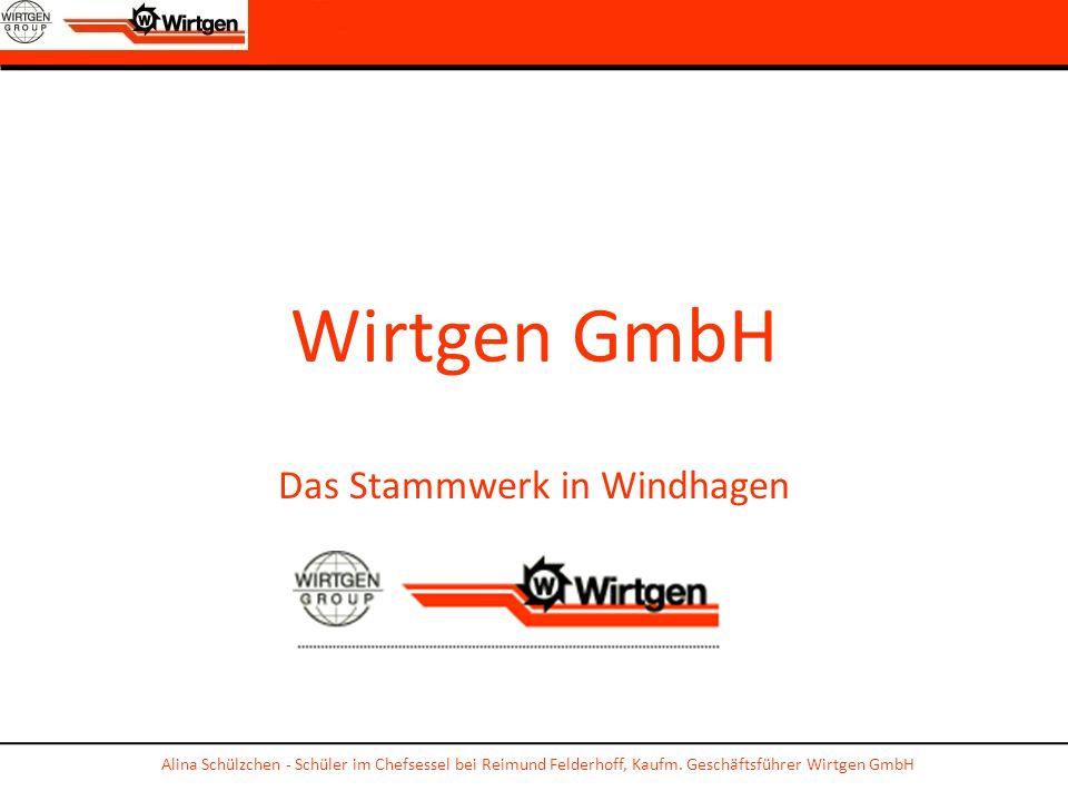 Wirtgen GmbH Das Stammwerk in Windhagen Alina Schülzchen - Schüler im Chefsessel bei Reimund Felderhoff, Kaufm. Geschäftsführer Wirtgen GmbH