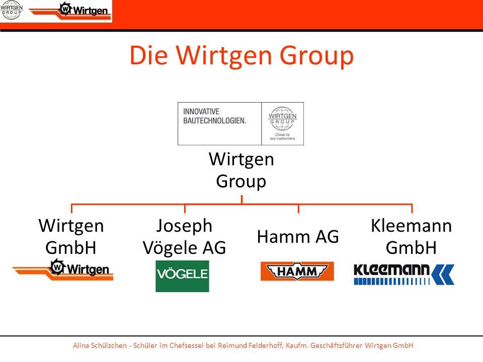 Die Wirtgen Group Wirtgen Group Wirtgen GmbH Joseph Vögele AG Hamm AG Kleemann GmbH Alina Schülzchen - Schüler im Chefsessel bei Reimund Felderhoff, K