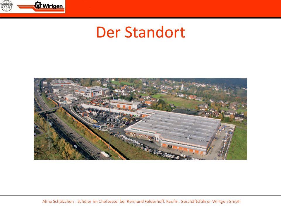 Der Standort Alina Schülzchen - Schüler im Chefsessel bei Reimund Felderhoff, Kaufm. Geschäftsführer Wirtgen GmbH
