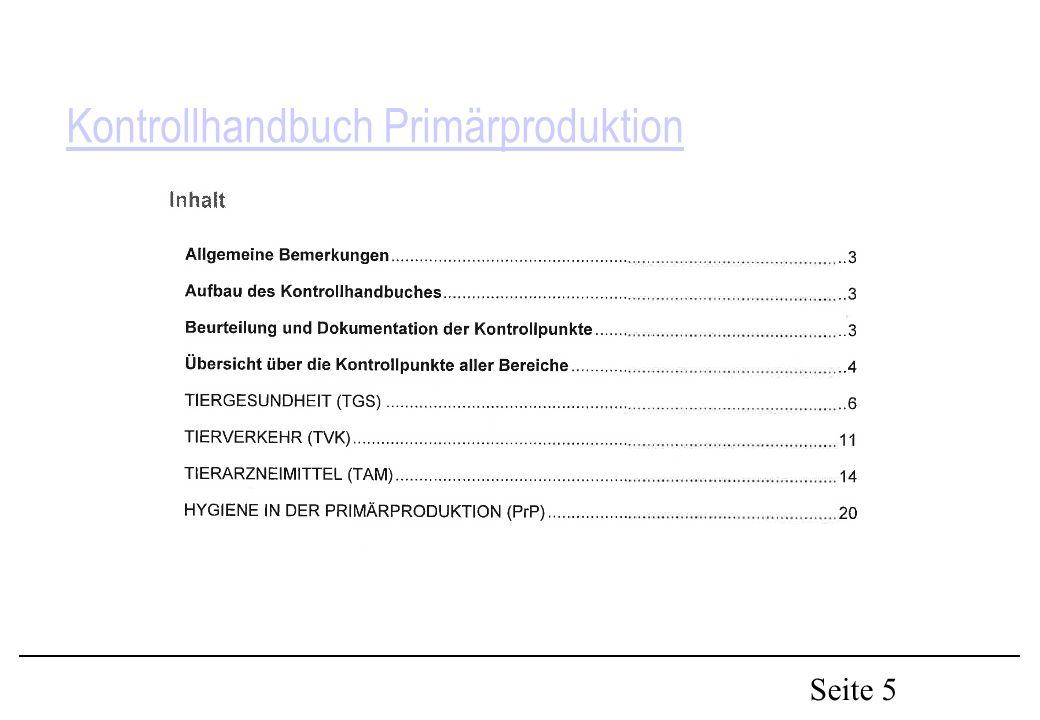 Seite 5 Kontrollhandbuch Primärproduktion