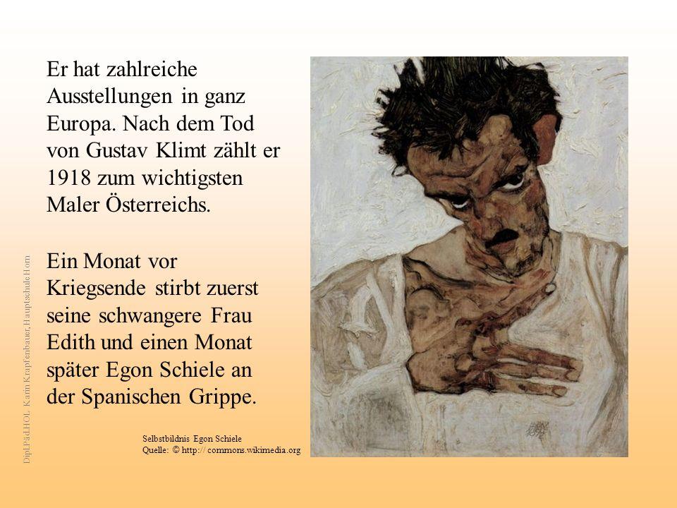 Er hat zahlreiche Ausstellungen in ganz Europa. Nach dem Tod von Gustav Klimt zählt er 1918 zum wichtigsten Maler Österreichs. Ein Monat vor Kriegsend