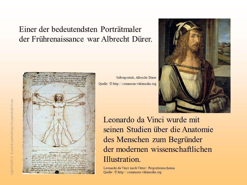 Einer der bedeutendsten Porträtmaler der Frührenaissance war Albrecht Dürer. Selbstporträt, Albrecht Dürer Quelle: © http:// commons.wikimedia.org Leo