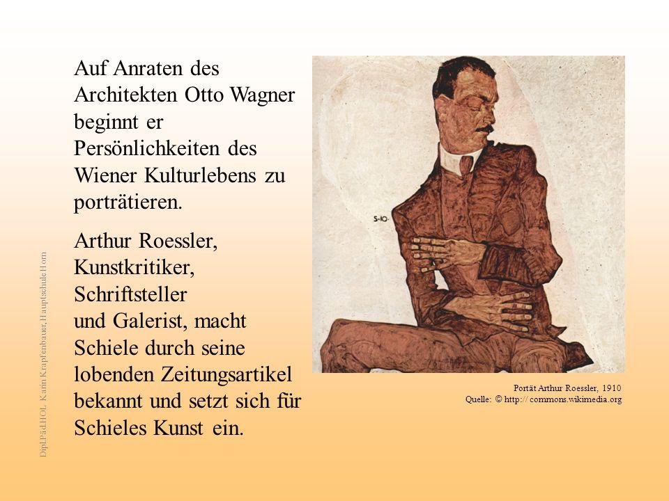 Auf Anraten des Architekten Otto Wagner beginnt er Persönlichkeiten des Wiener Kulturlebens zu porträtieren. Arthur Roessler, Kunstkritiker, Schriftst