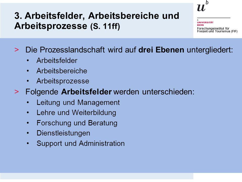 Forschungsinstitut für Freizeit und Tourismus (FIF) 3. Arbeitsfelder, Arbeitsbereiche und Arbeitsprozesse (S. 11ff) >Die Prozesslandschaft wird auf dr