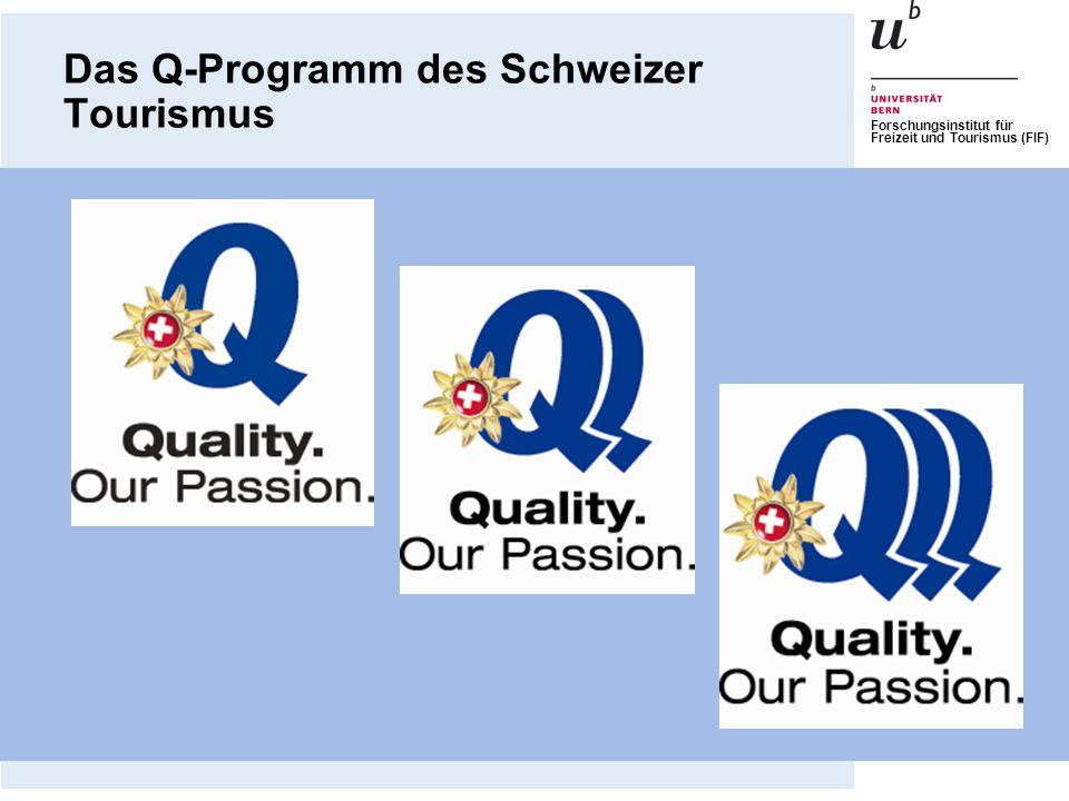 Forschungsinstitut für Freizeit und Tourismus (FIF) 1.QSE der Universität Bern 2.Bedeutung von Qualität 3.Arbeitsfelder, Arbeitsbereiche und Arbeitsprozesse 4.Stufe I – Kritische Ereignisse 5.Stufe II - Prozesse 6.Stufe III – Umfassendes Qualitätsmanagement-System 7.Hinweise für die Umsetzung Inhalt