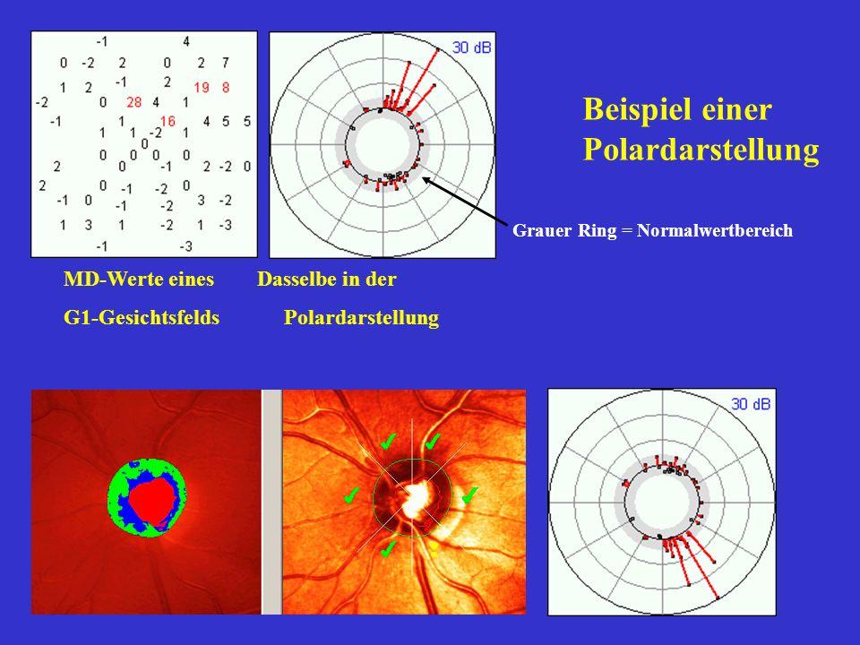 4 Quadranten 10°-30° 4 Quadranten 0°-10° 2 Halbfelder 10°-30° 2 Halbfelder 0°-10° Hauptfenster Rechts/Links-Vergleich für Quadranten
