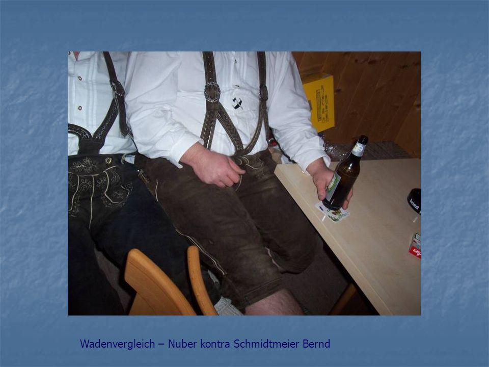 Wadenvergleich – Nuber kontra Schmidtmeier Bernd