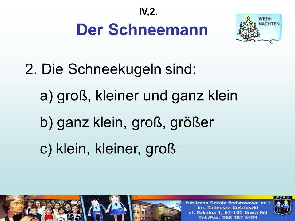 Der Schneemann 2.