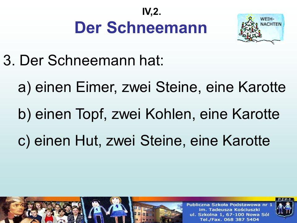 Der Schneemann 3.