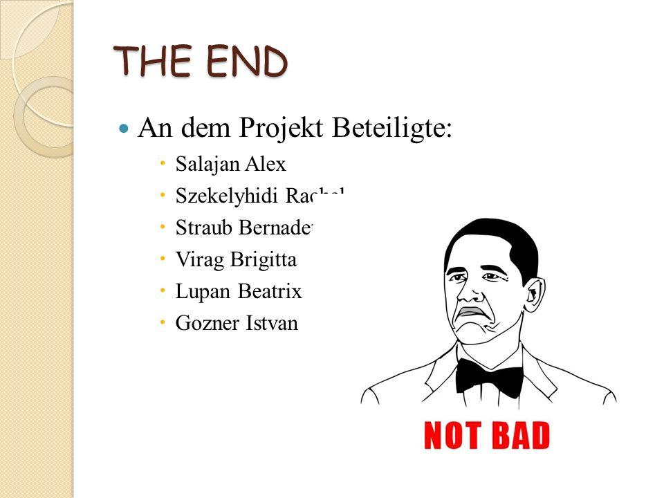 THE END An dem Projekt Beteiligte: Salajan Alex Szekelyhidi Rachel Straub Bernadette Virag Brigitta Lupan Beatrix Gozner Istvan