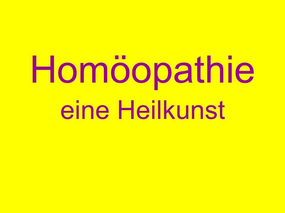Homöopathie eine Heilkunst