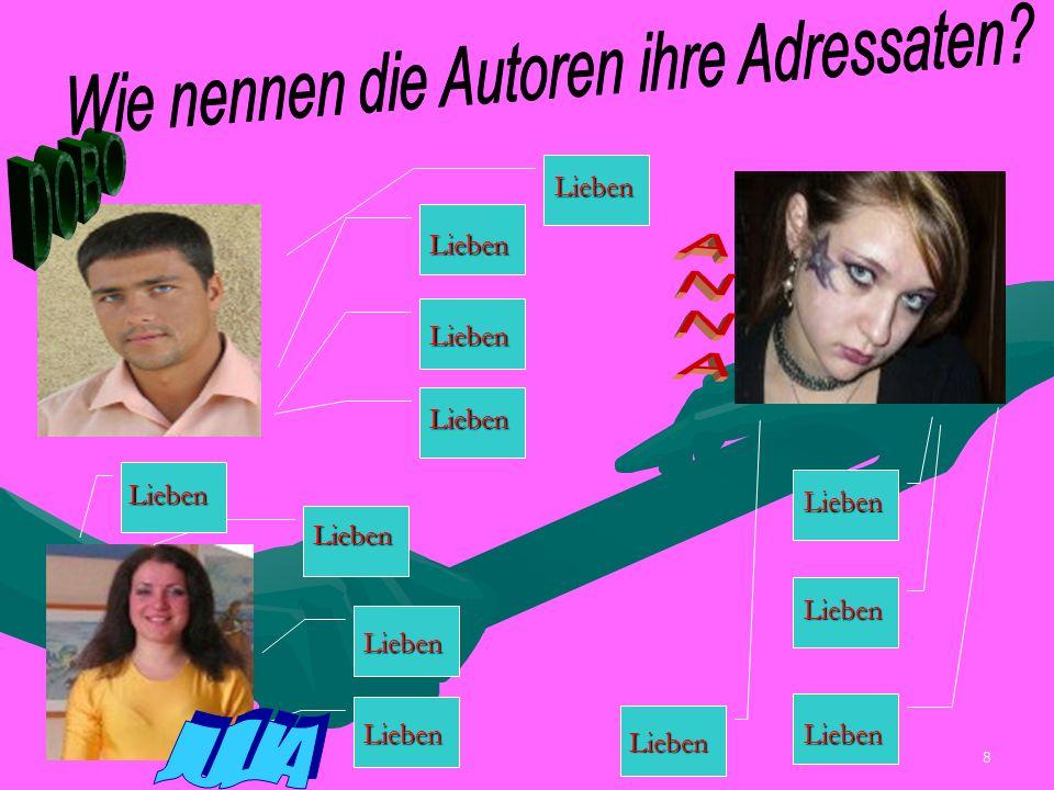 7 Die deutschen Jugendlichen beantworten diese Frage so: