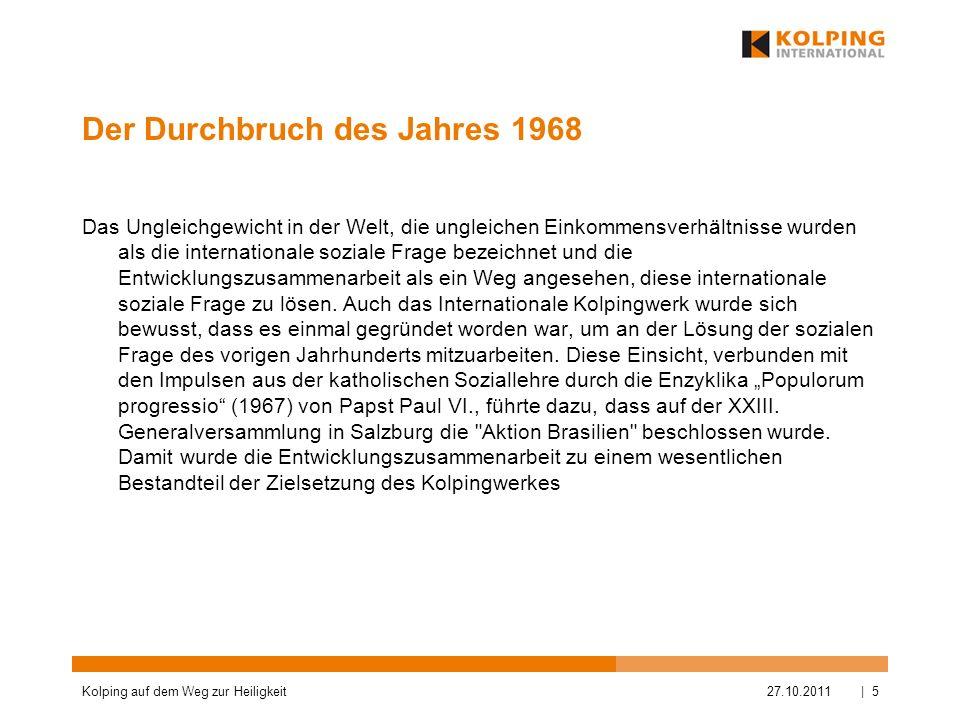 Der Durchbruch des Jahres 1968 Das Ungleichgewicht in der Welt, die ungleichen Einkommensverhältnisse wurden als die internationale soziale Frage beze
