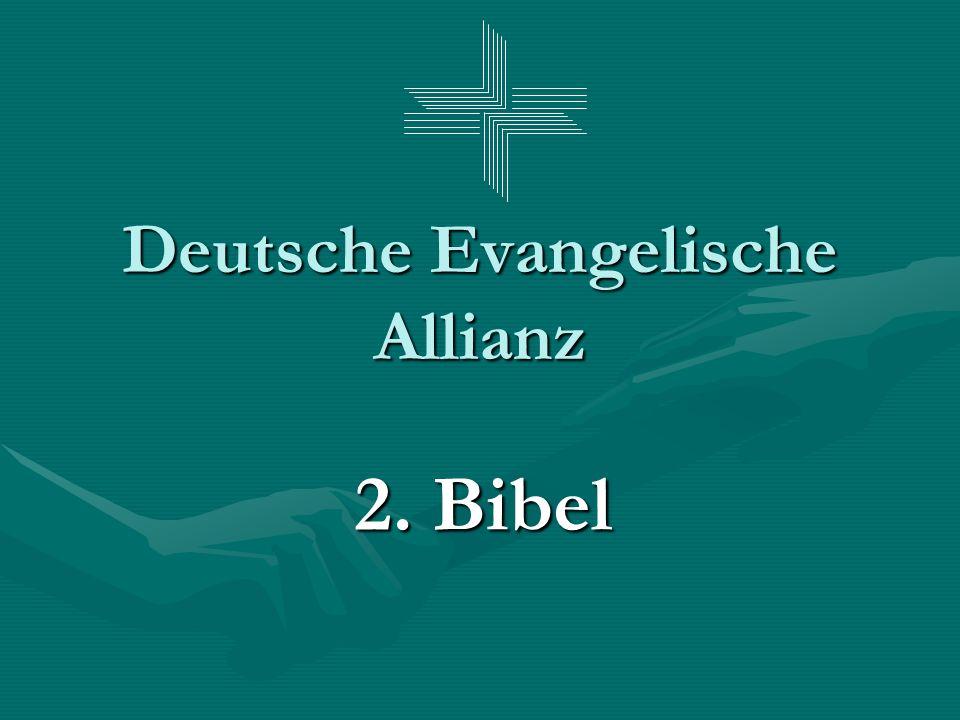 Deutsche Evangelische Allianz 2. Bibel