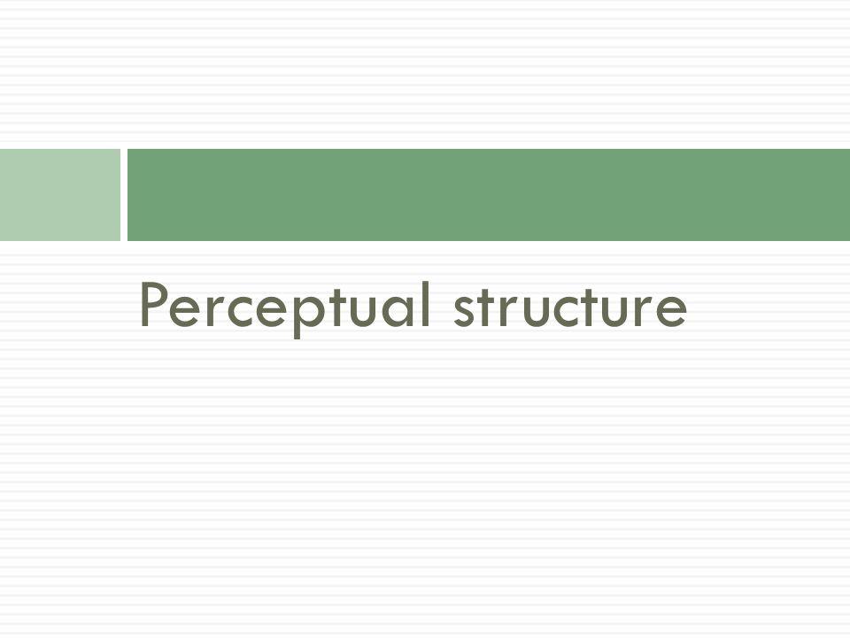 Perceptual structure
